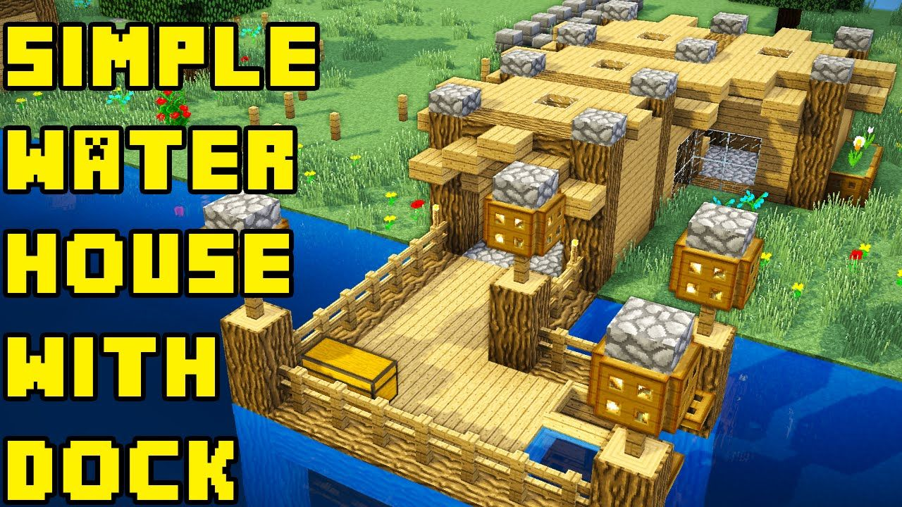 Minecraft: Simple Boat/Fishing Lake Water House/Base