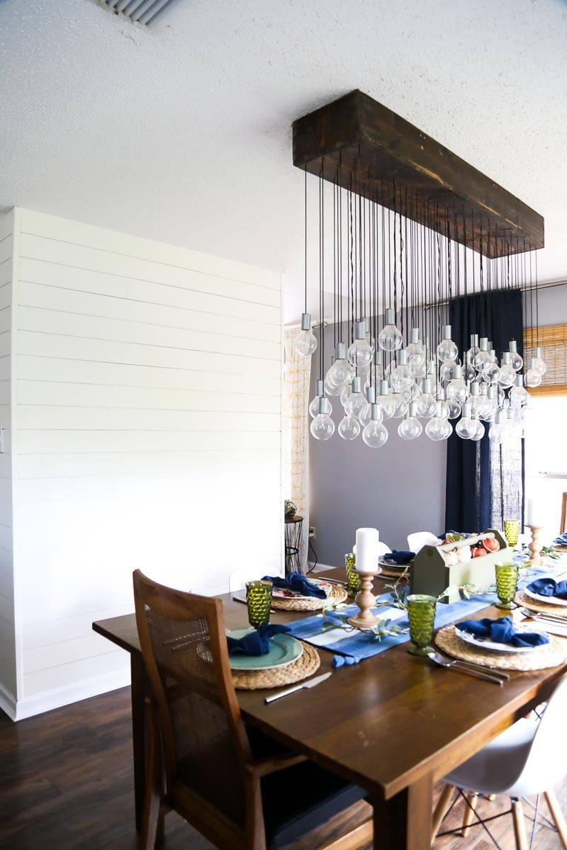 DIY Dining Room Chandelier - learn how to make this multi-bulb ...