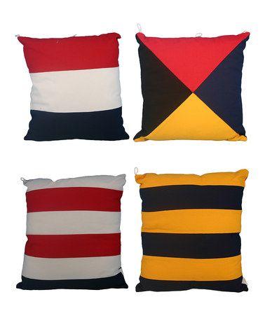 Love this Nautical Flag Throw Pillow Set on #zulily! #zulilyfinds
