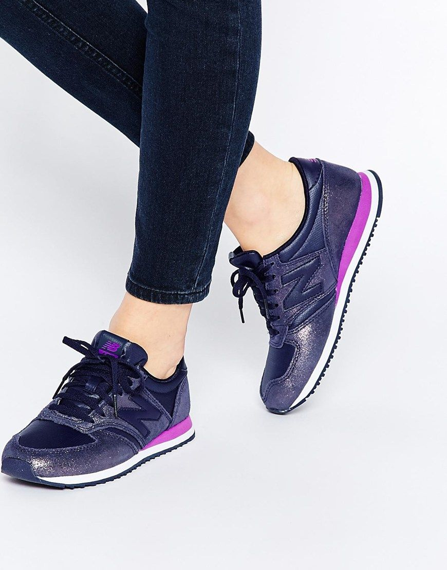 new balance 420 purple suede trainers ladies