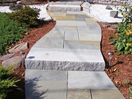 Unique Walkway Idea Woodbury Gray Granite Step And Full