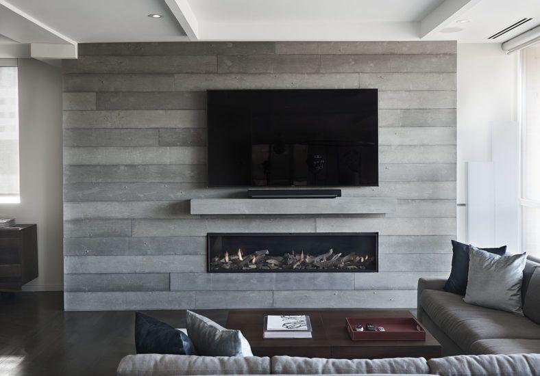 Board Formed Concrete Fireplace Toronto Concrete Fireplace Fireplace Built Ins Freestanding Fireplace