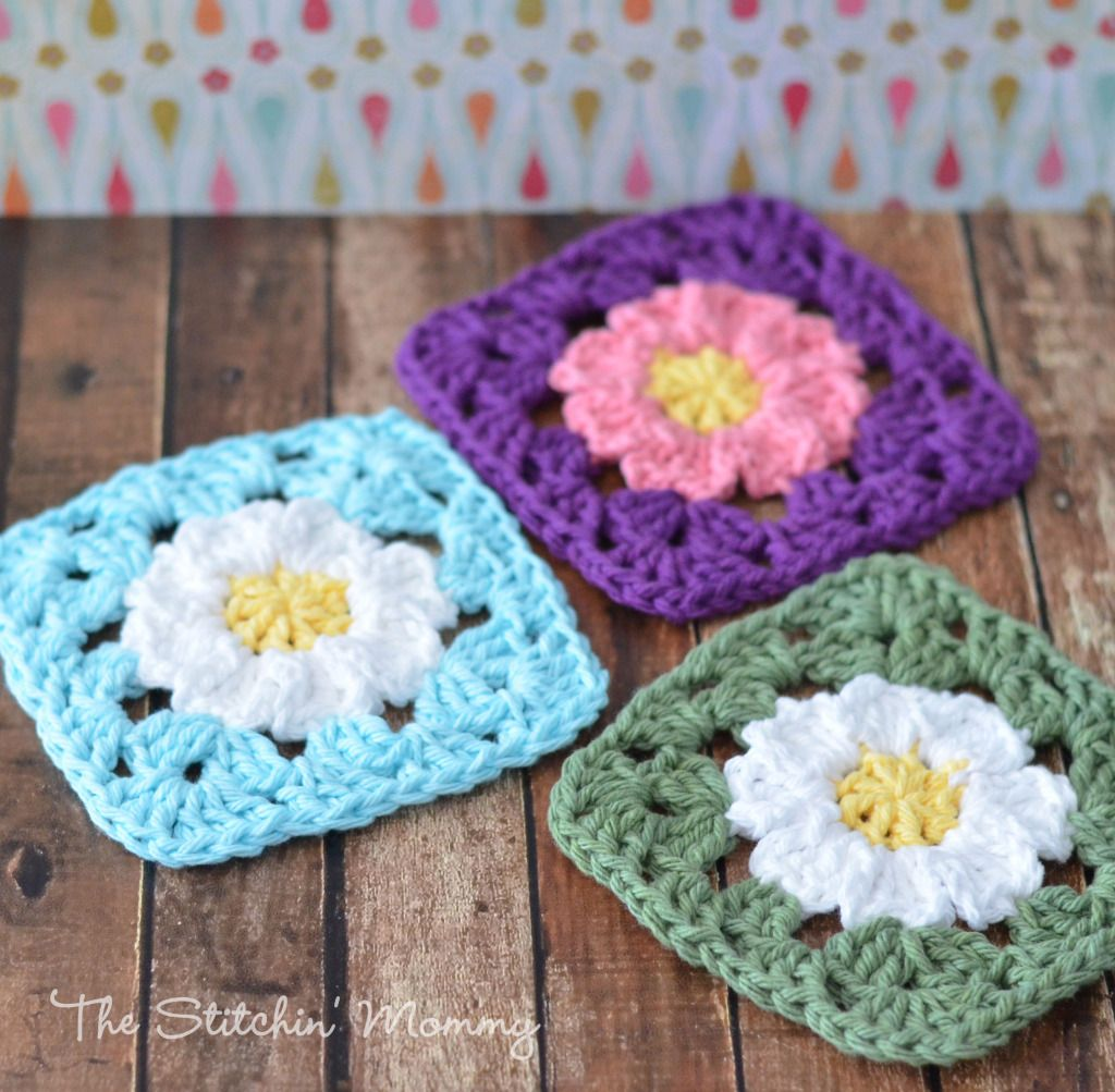 These cute and easy crochet daisy granny squares are wonderful as coasters or make a bunch and turn them into a gorgeous daisy granny square blanket!