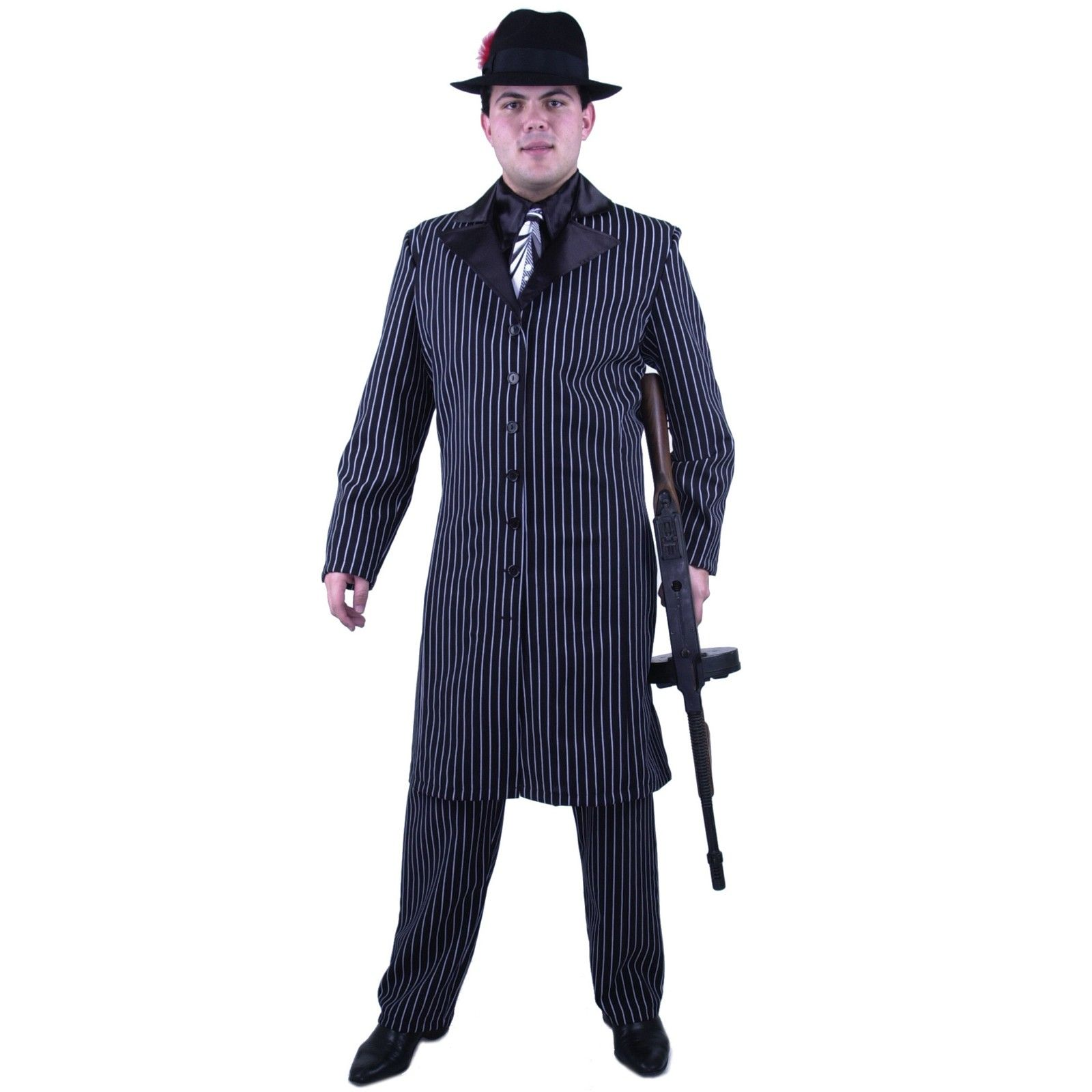 Gangster \'20s Adult Costume | Gangsters, Long jackets and Costumes