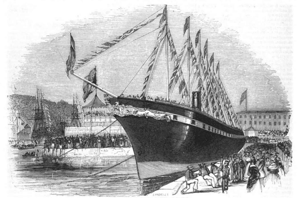 Illustrirte Zeitung (1843) 21 332 1 Das vom Stapellaufen des Great-Britain - SS Great Britain - Wikipedia, the free encyclopedia