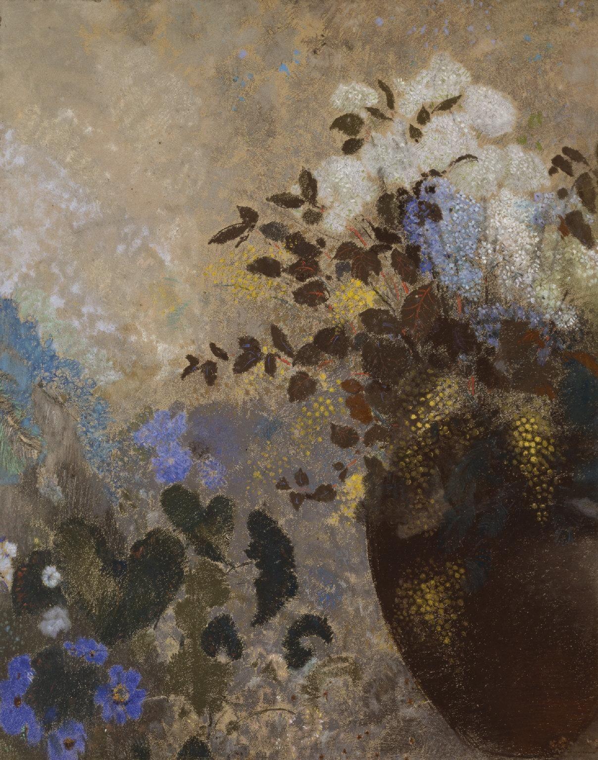 Odilon Redon - Flowers in a Black Vase, c.1909-10