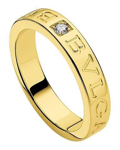 bvlgari bulgari inspired 14ct yellow gold and diamond ring