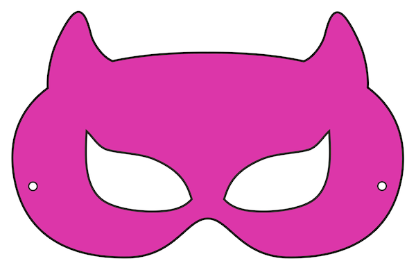 supergirl mask template