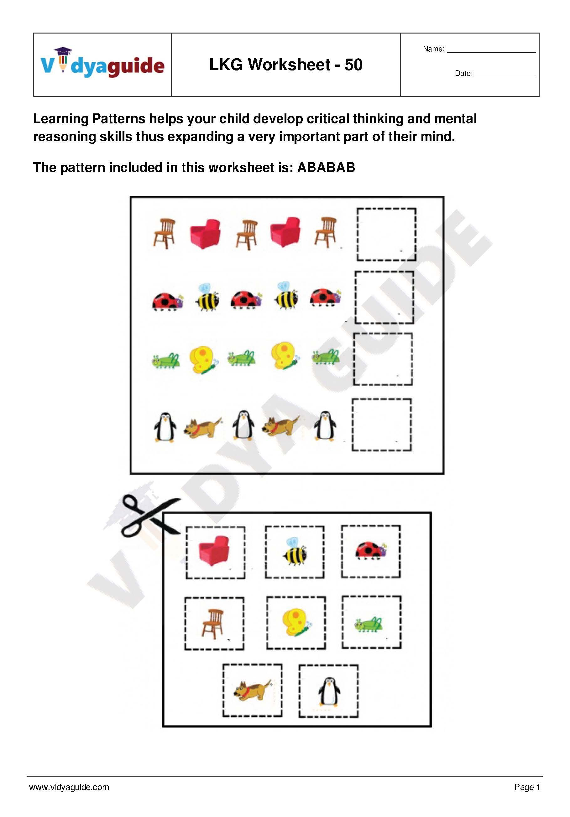 LKG Worksheets Set 10 Download 5 Lower kindergarten (LKG