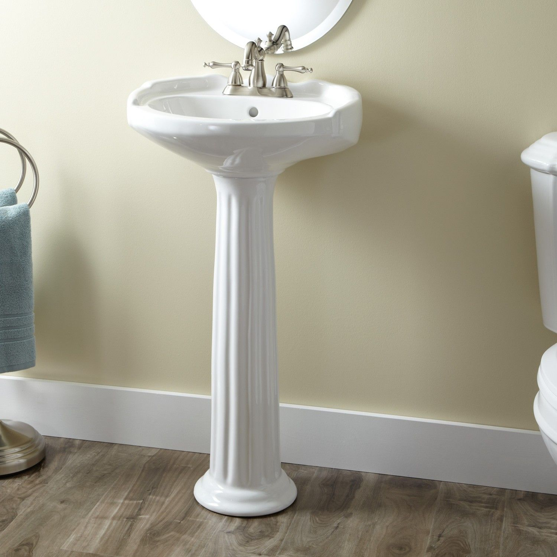 Victorian Medium Porcelain Pedestal Sink Pedestal Sink Pedestal