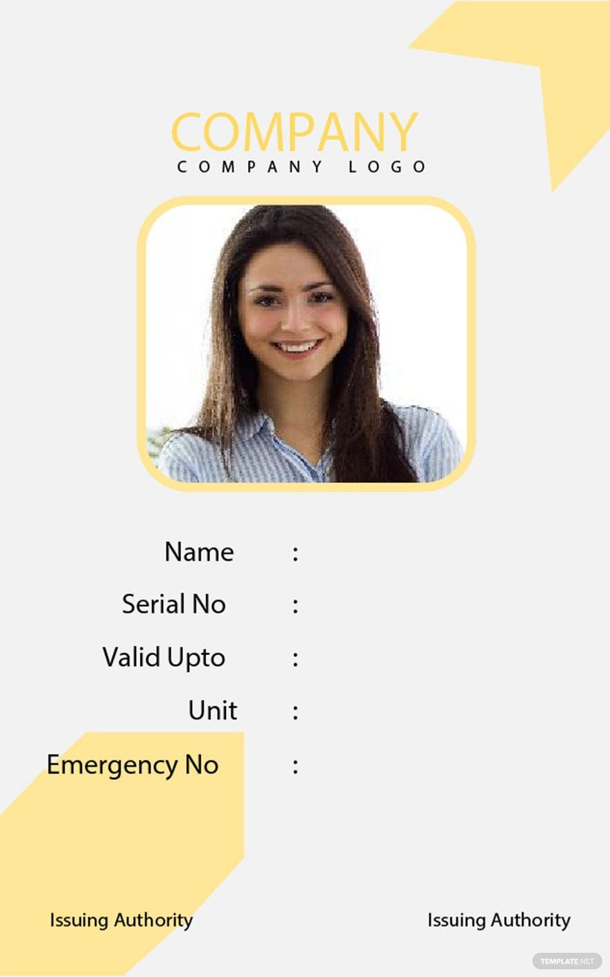 Free Simple Blank Id Card Template Word Doc Apple Mac Pages Publisher Id Card Template Blank Id Cards Card Template