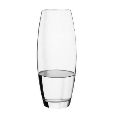 paris prix - vase flora transparent 26cm bombe | vase et verre