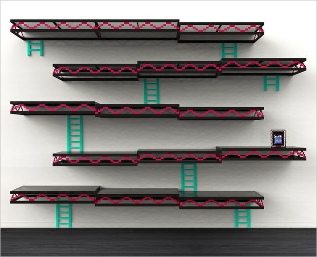 Awesome Shelves donkey kong wall shelves [diy project inspiration] - how-to geek