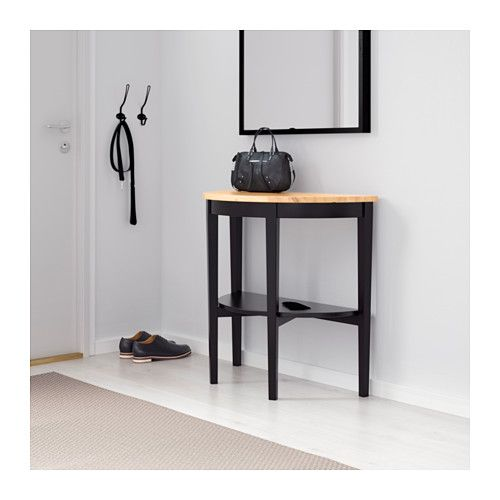 IKEA   ARKELSTORP, Console Table, Black , Solid Wood Is A Durable Natural  Material.Separate Shelf For Magazines, Etc. Helps You Keep Your Things  Organized ...
