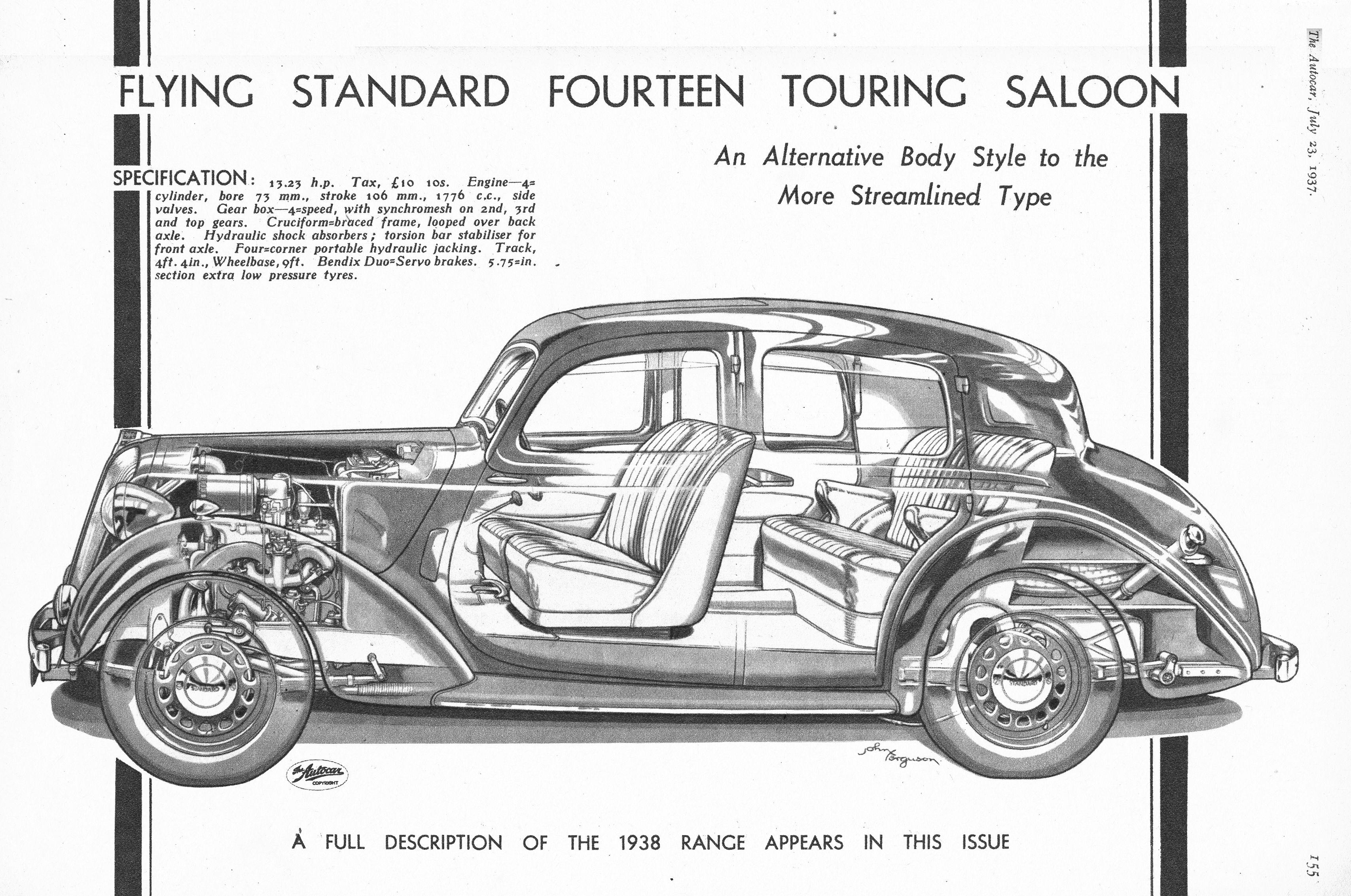 Standard Fourteen Seaters Motor Car Autocar Advert 1937