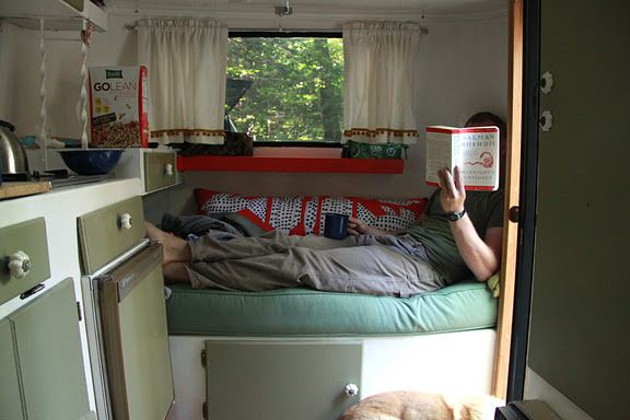 Scamp Interior Love How They Built The Shelf Where Bunk Once Hooked In