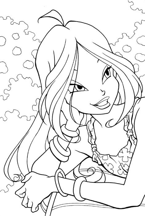 Flora bw by ciambella on deviantart coloriages dessins - Bloom dessin anime ...