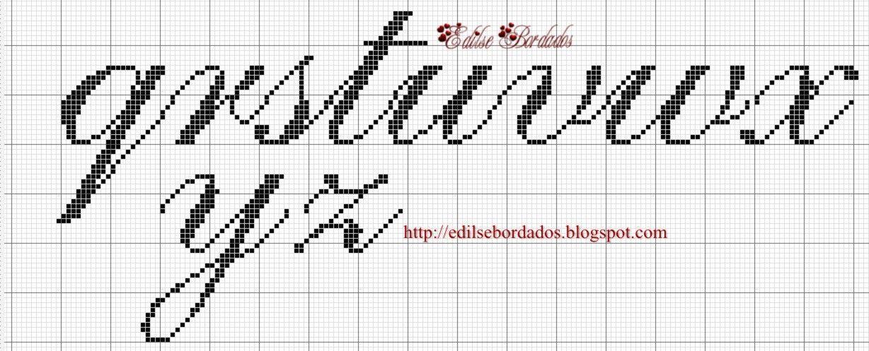 Edilse Bordados: Monograma em ponto cruz!!!