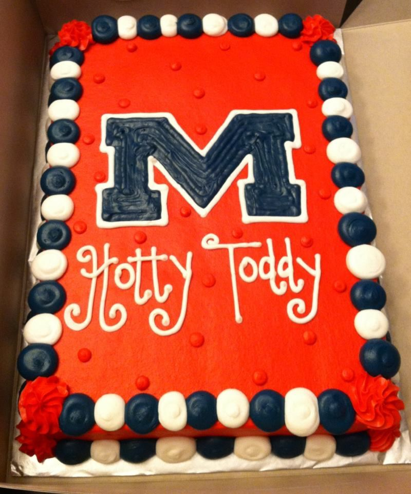 Phenomenal Ole Miss Cake Miss Cake Ole Miss 40Th Birthday Games Funny Birthday Cards Online Fluifree Goldxyz