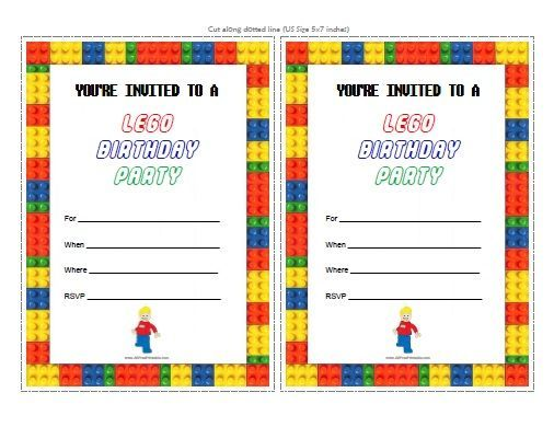 free printable lego birthday party invitations party ideas in 2018