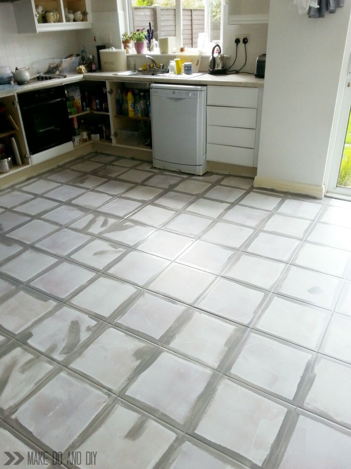 how to paint a tile floor, and what you should think about before ...