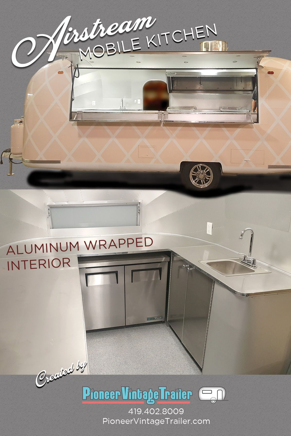 Airstream Mobile Kitchen Food Trailer Stainless Countertops Vintage Trailer