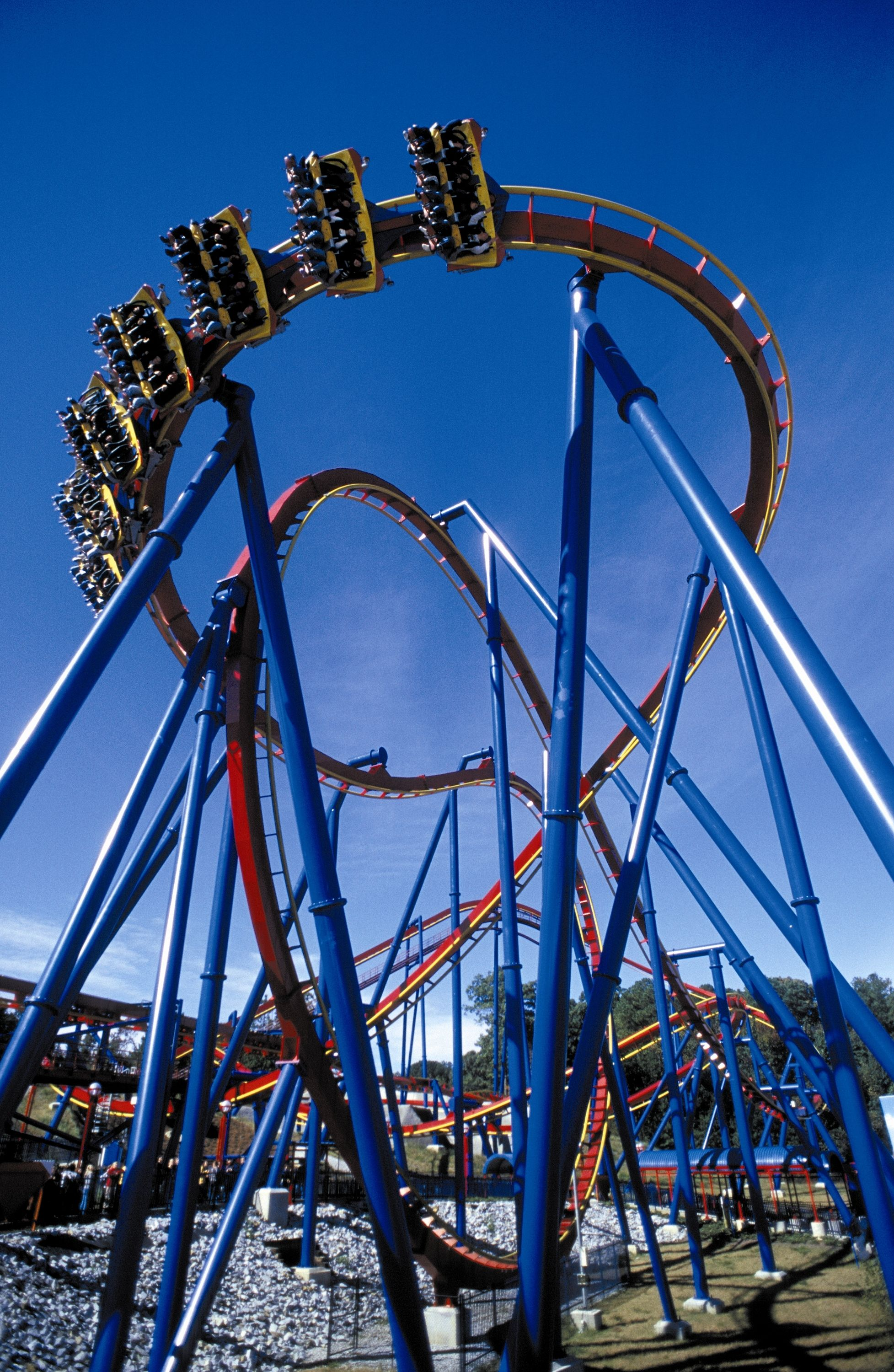 Superman Thrill Rides Cbs Chicago Scary Roller Coasters Roller Coaster Ride Thrill Ride