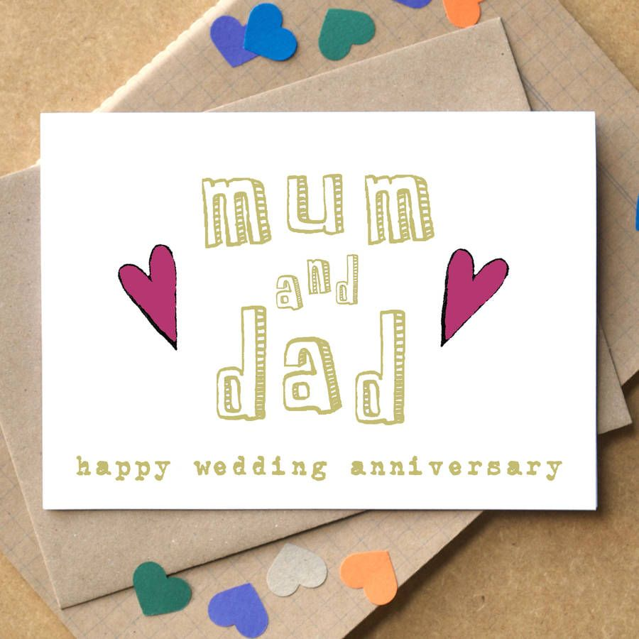 Image Result For Anniversary Card For Mom And Dad Cards