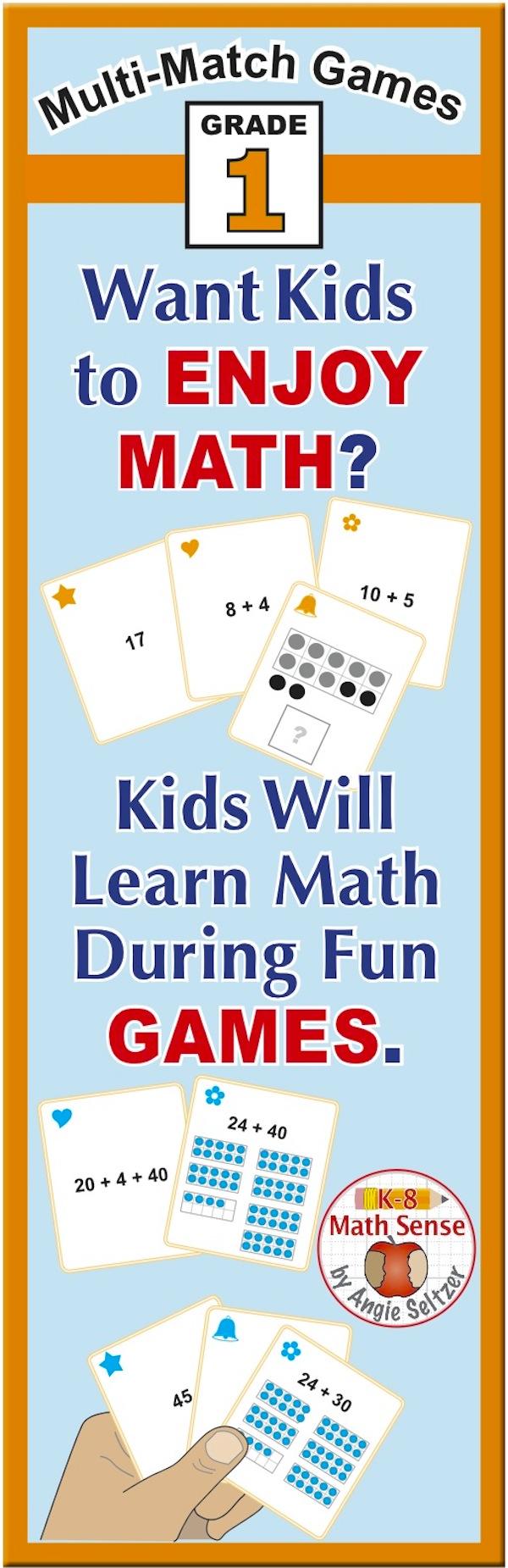 BONUS BUNDLE Grade 1 MultiMatch Math Games for Common