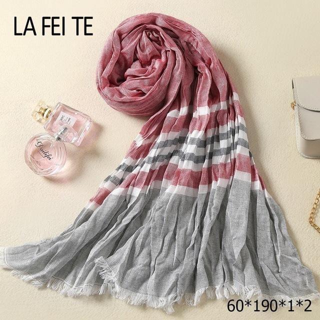 Luxury Designer Long Cotton Scarf Men Foulard Femme Neckerchief Neck Stole  Viscose Crinkle Hijab Scarf Male Women Kerchief-JetSet-JetSet e4bf282910a