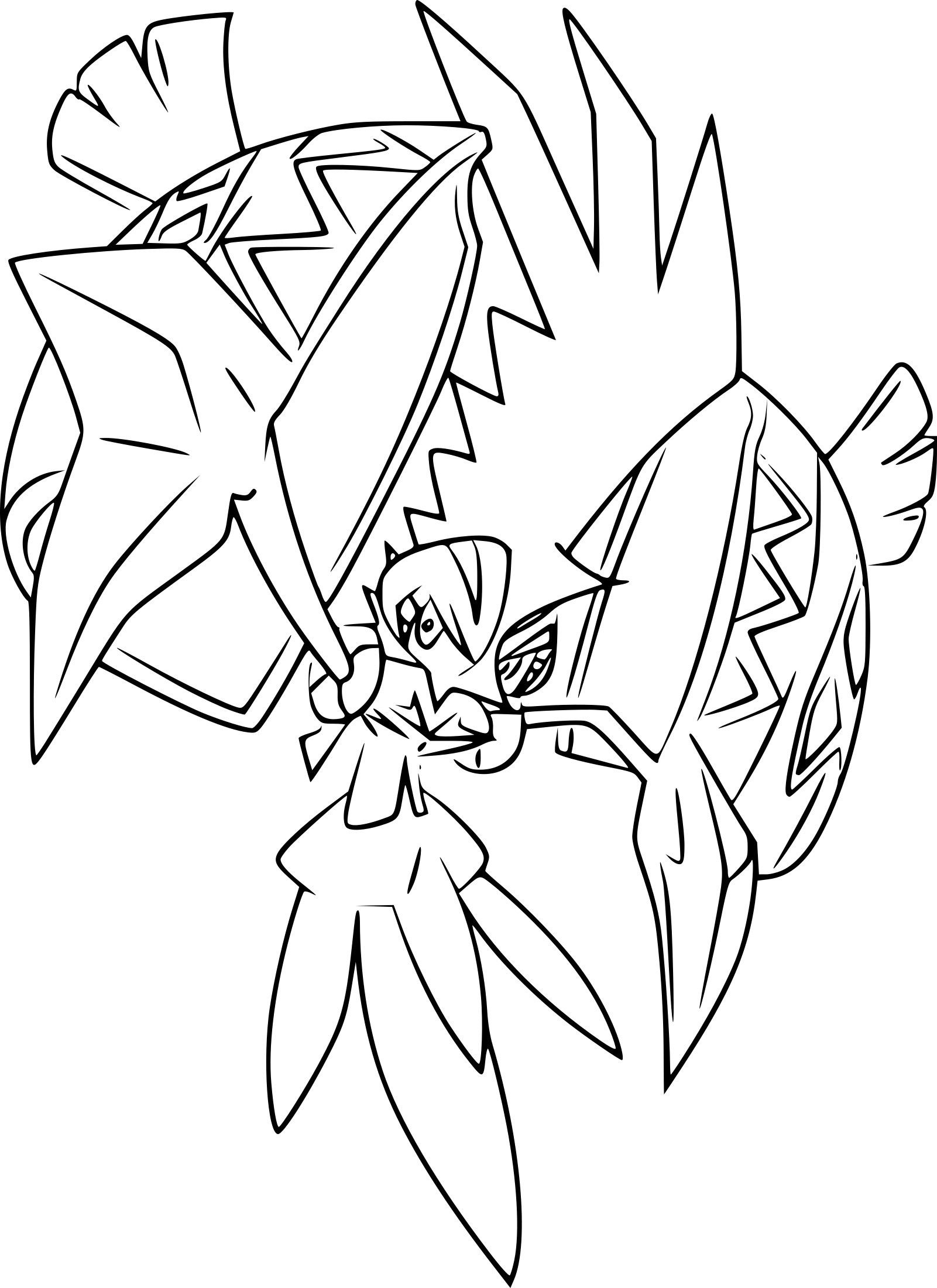 Ultra Beast Pokemon Coloring Page Hd Background