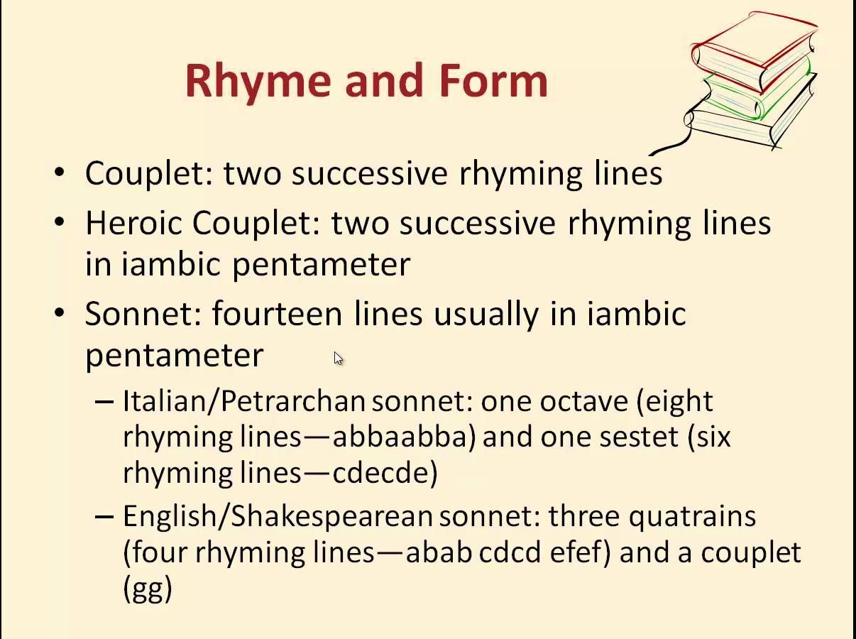 Literature lessons: how are rhymes called rhymes