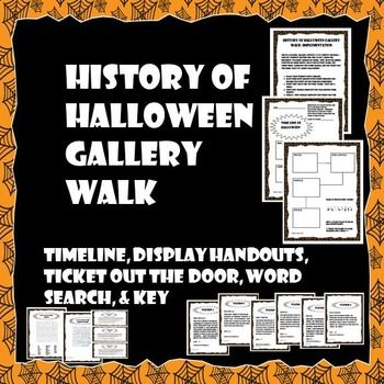 history of halloween gallery walk word search historical data timeline