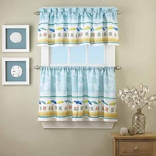 10 Attractive Coastal Kitchen Curtains Under 33 00 Vorhange Kuche Wohn Design Vorhang Fenster