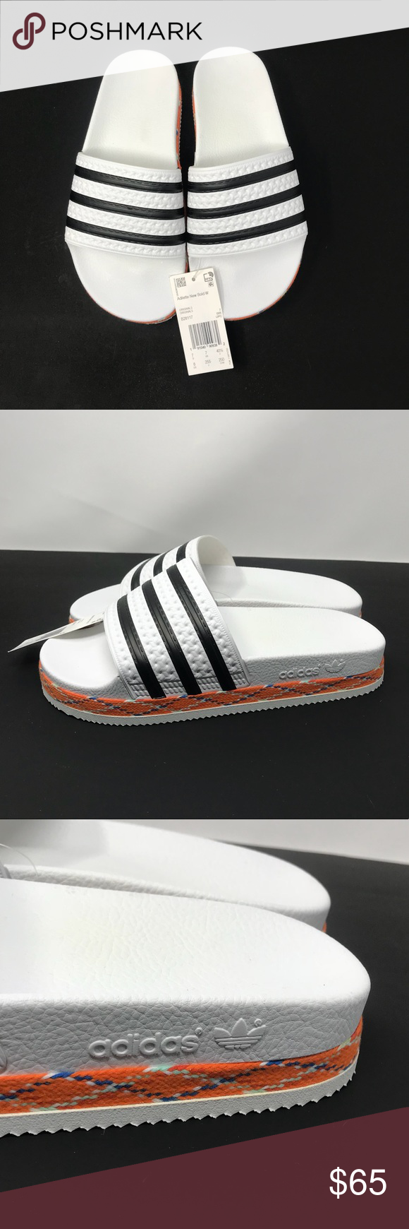 """20c604562 Adidas Slides Brand new. Adidas platform slides. Women s size 8. Platform  height about 1.5"""" Box not included. adidas Shoes Sandals"""
