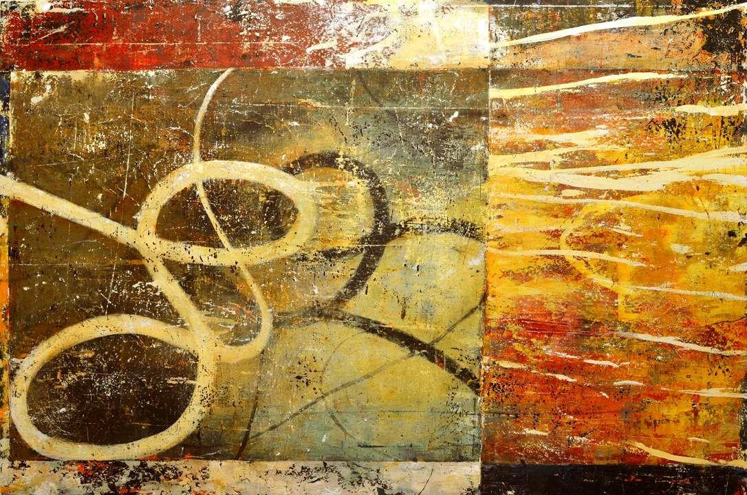 """Bill Gingles, Bending Heaven, 2014, Acrylic on canvas, 48"""" x 72"""" www.billgingles.net"""