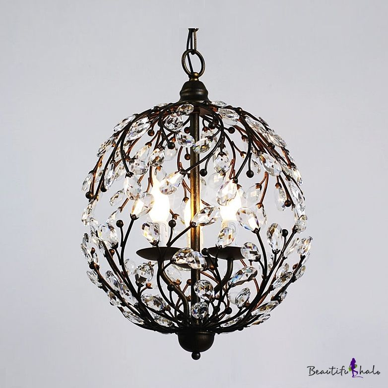 Contemporary Funky Pendant Light With Crystal Leaves Capture Light