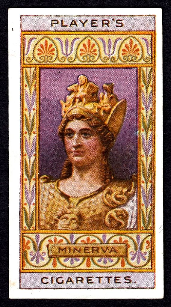 """#21 Minerva (Roman Goddess) - Player's Cigarettes, """"Egyptian King's & Queens and Classical Deities"""" 1912 