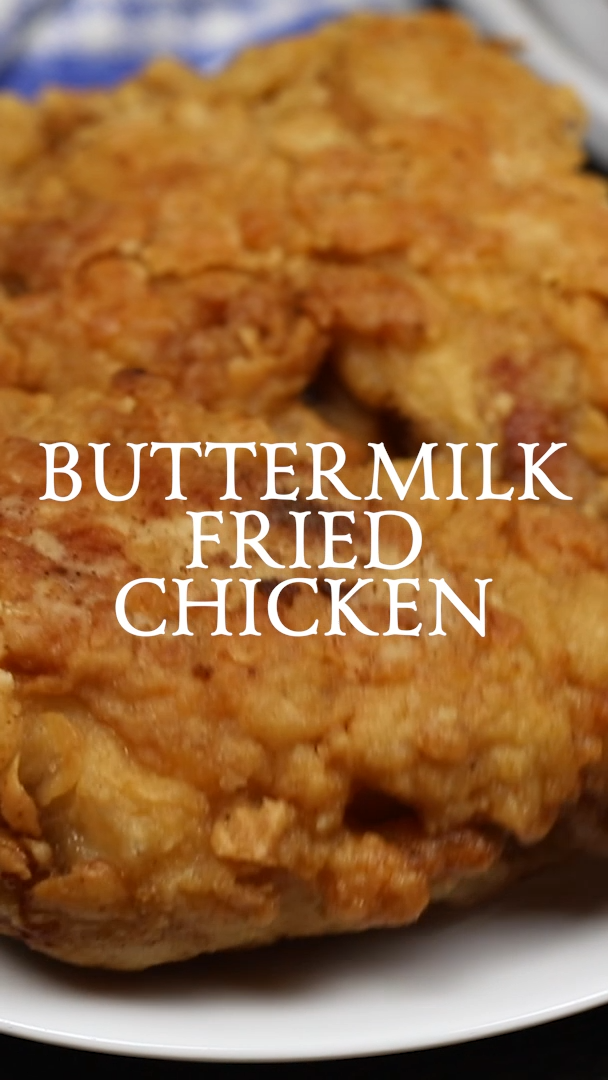 Buttermilk Fried Chicken In 2020 Buttermilk Recipes Fried Chicken Recipe Southern Kfc Chicken Recipe
