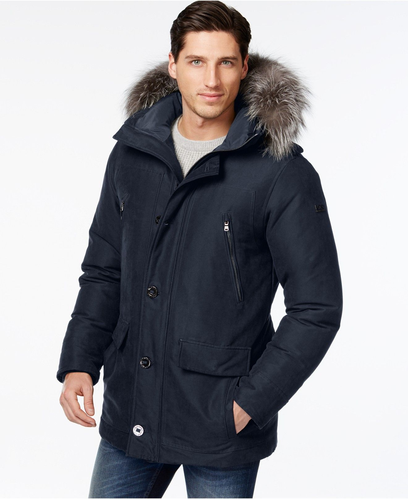 7c7ac895ae7 Michael Kors Fur-Trim Arctic Parka - Coats   Jackets - Men - Macy s ...