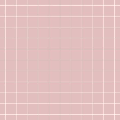 Colorful fabrics digitally printed by Spoonflower - dusty pink grid | pencilmeinstationery.com
