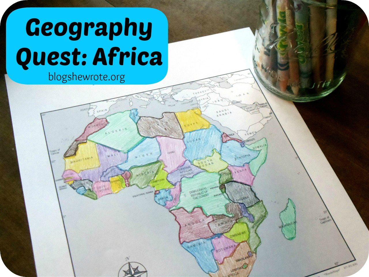 Map Quest Africa Geography Quest: Africa | Homeschool geography, Middle school