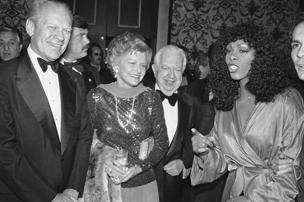 Gerald and Betty Ford, left, Donna Summer, right, and Cedars