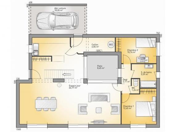 Modèle de maison Concept 2020 - 128  Photo 1 déco Pinterest