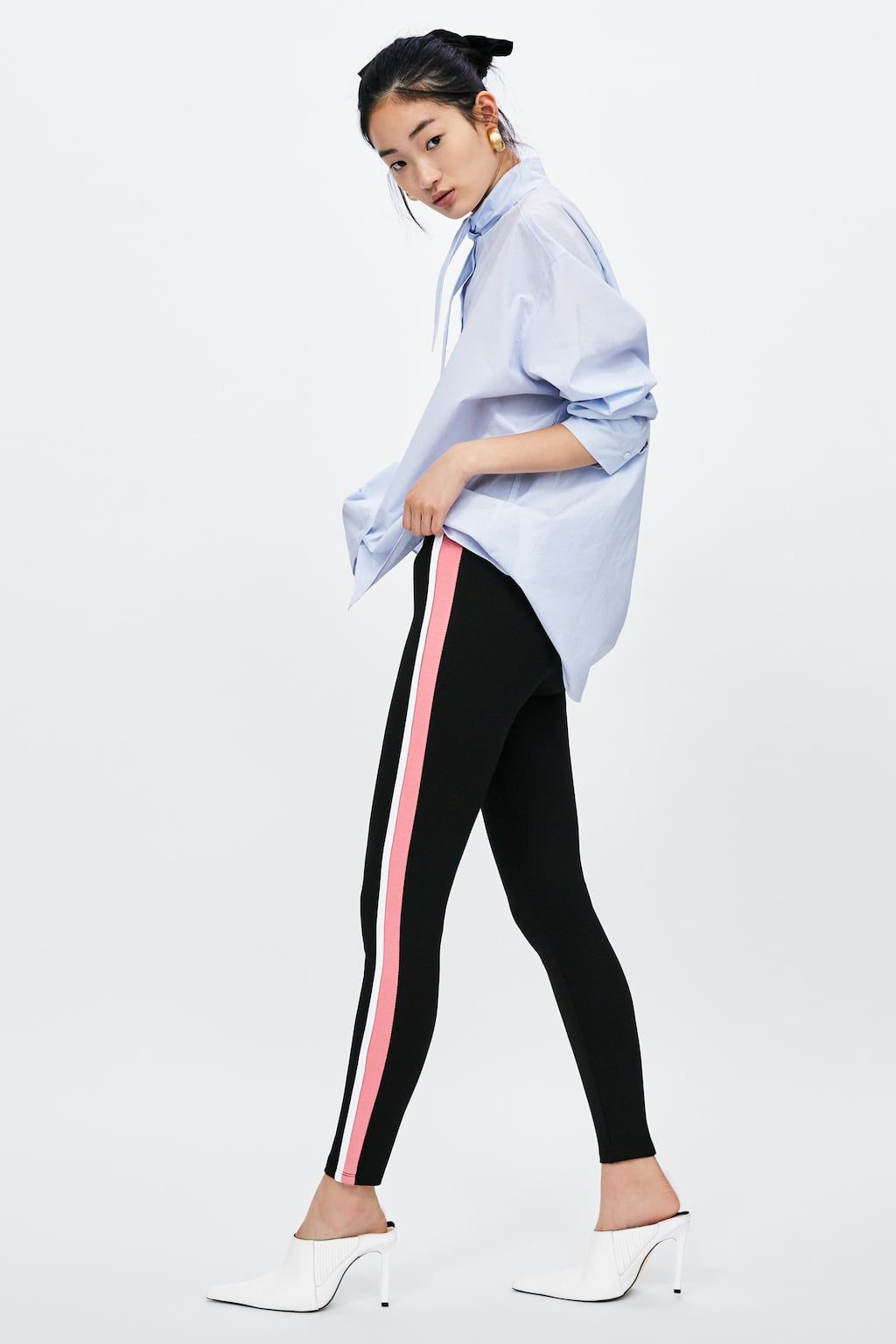 4fb8d454 Image 6 of SIDE STRIPE LEGGINGS from Zara | My Style in 2019 ...