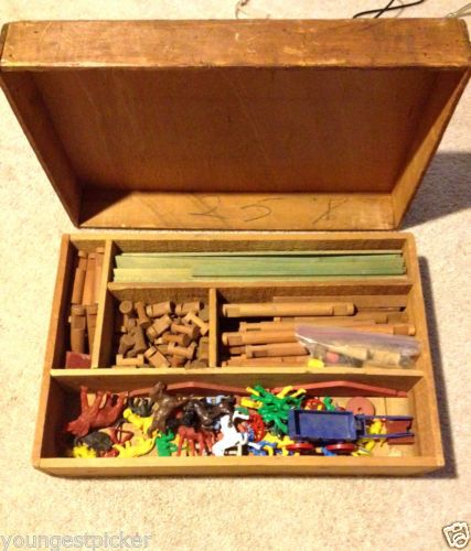 Rare Early Antique Lincoln Logs Play
