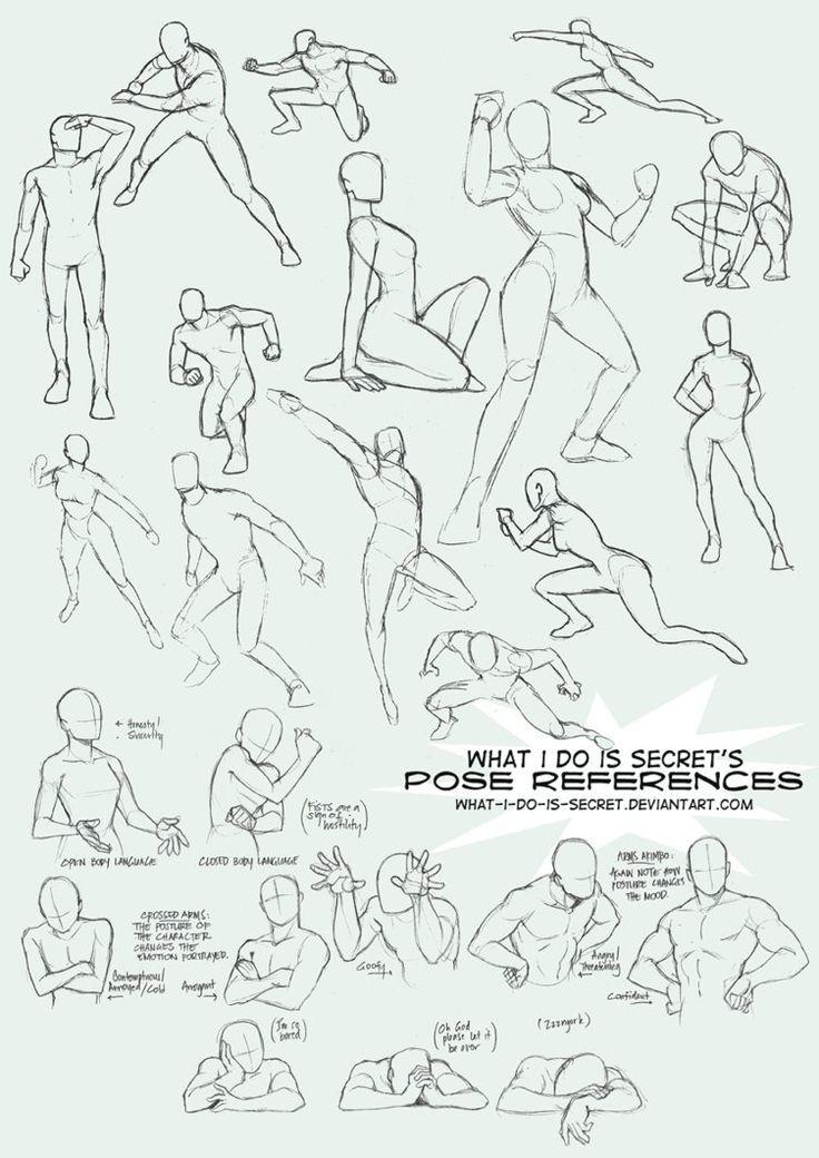 Guías de dibujo: Anatomía y movimientos del cuerpo | Pose, Drawings ...