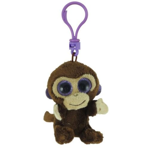 """Details about TY Beanie Boos 3"""" COCONUT Monkey Key Clip"""
