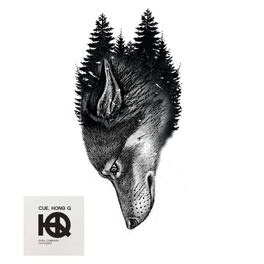 """""""#늑대타투 #타투도안 #타투 #09xx #tattoo #tattooist #design #illust #art #artwork #illustration #wolf #wolftattoo #black #iblackwork #blackwork"""""""