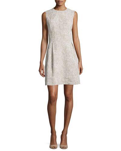 b0c00f6325b TCCDU Michael Kors Collection Sleeveless Linen Shift Dress
